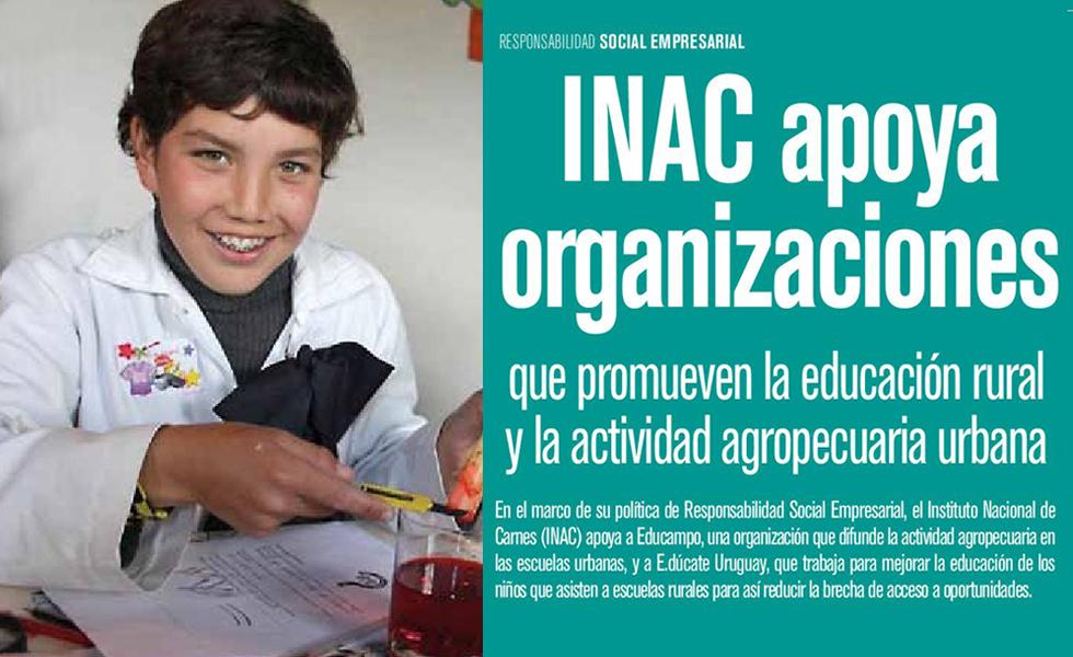 Revista Somos Uruguay: INAC apoya organizaciones que promueven la educación rural y la actividad agropecuaria urbana